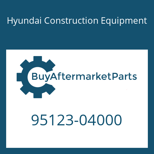 Hyundai Construction Equipment 95123-04000 - O-RING
