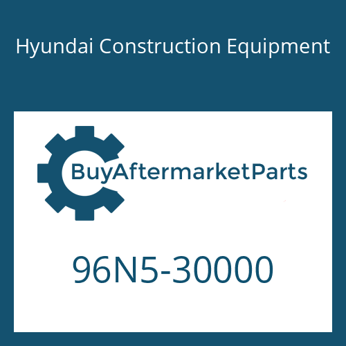 Hyundai Construction Equipment 96N5-30000 - PARTS MANUAL