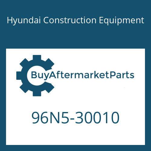 Hyundai Construction Equipment 96N5-30010 - OPERATORS MANUAL