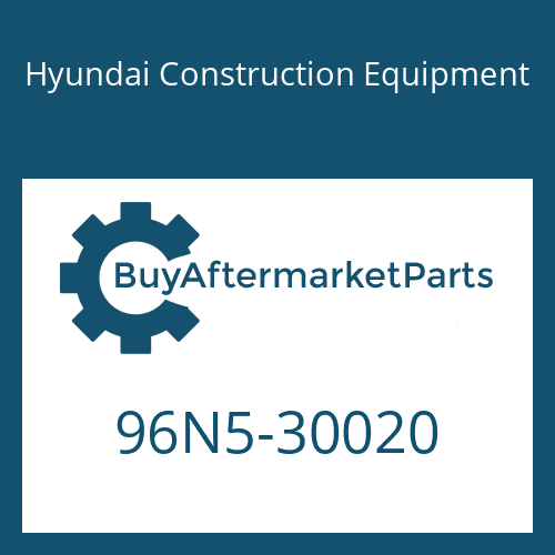 Hyundai Construction Equipment 96N5-30020 - SERVICE MANUAL