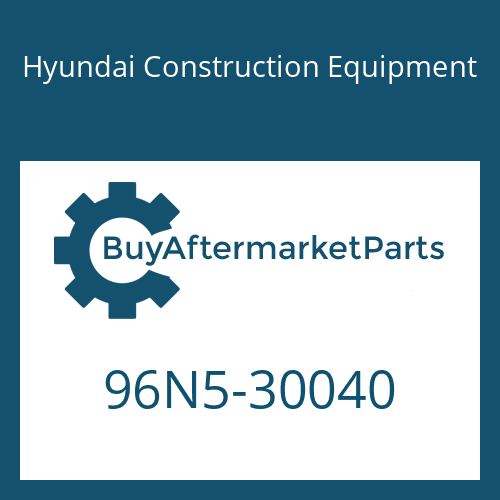Hyundai Construction Equipment 96N5-30040 - MANUAL-OPERATOR