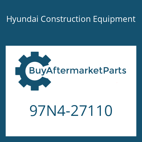 Hyundai Construction Equipment 97N4-27110 - DECAL-MODEL NAME,LH