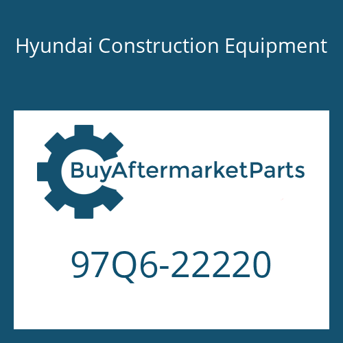 Hyundai Construction Equipment 97Q6-22220 - DECAL-NOISE LWA