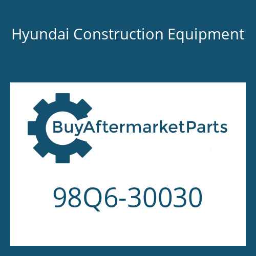 Hyundai Construction Equipment 98Q6-30030 - PARTS MANUAL