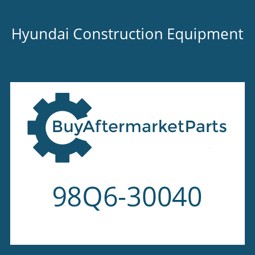 Hyundai Construction Equipment 98Q6-30040 - OPERATORS MANUAL