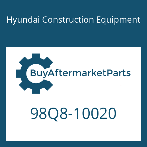 Hyundai Construction Equipment 98Q8-10020 - DECAL-MODEL NAME