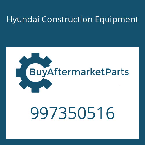 Hyundai Construction Equipment 997350516 - BOLT