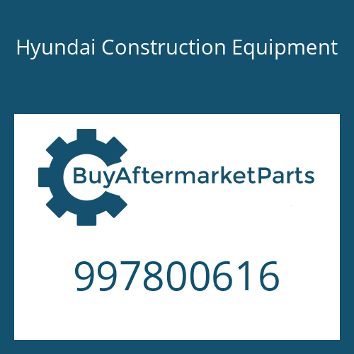 Hyundai Construction Equipment 997800616 - BOLT