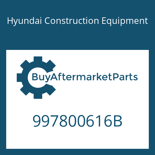 Hyundai Construction Equipment 997800616B - BOLT