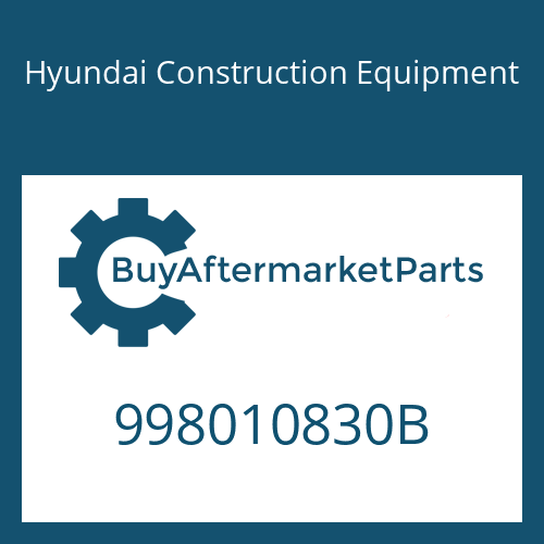 Hyundai Construction Equipment 998010830B - BOLT