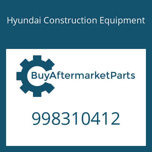 Hyundai Construction Equipment 998310412 - SCREW
