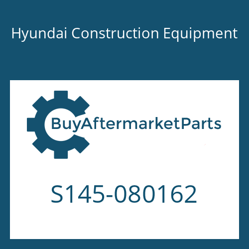 Hyundai Construction Equipment S145-080162 - BOLT-FLAT