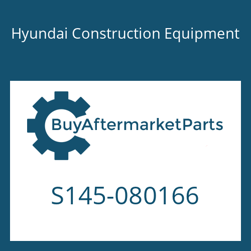Hyundai Construction Equipment S145-080166 - BOLT-FLAT