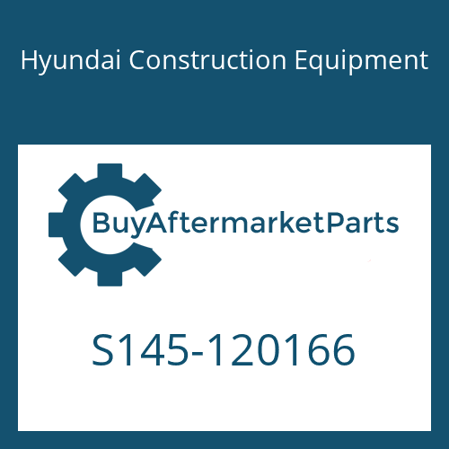 Hyundai Construction Equipment S145-120166 - BOLT-FLAT
