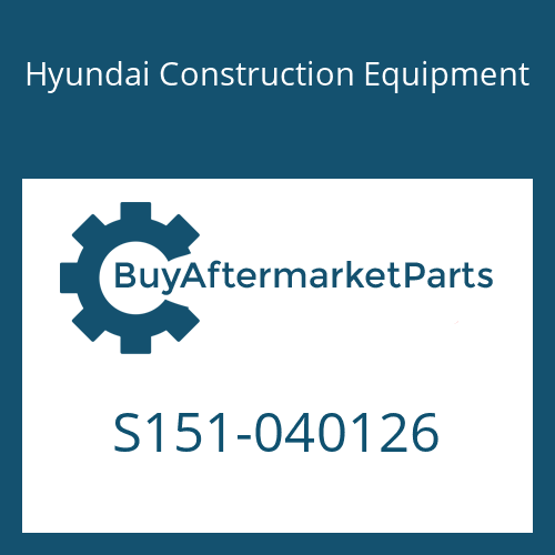 Hyundai Construction Equipment S151-040126 - BOLT-TAP