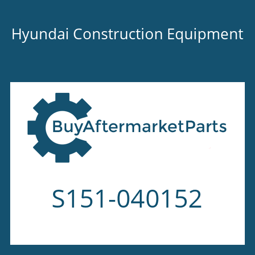 Hyundai Construction Equipment S151-040152 - BOLT-TAP