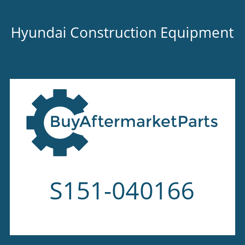 Hyundai Construction Equipment S151-040166 - BOLT-TAP