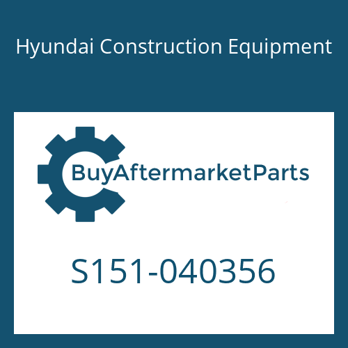 Hyundai Construction Equipment S151-040356 - BOLT-TAP