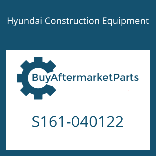Hyundai Construction Equipment S161-040122 - BOLT-CROSS RD