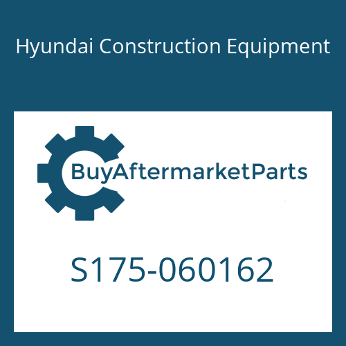 Hyundai Construction Equipment S175-060162 - BOLT-SOCKET