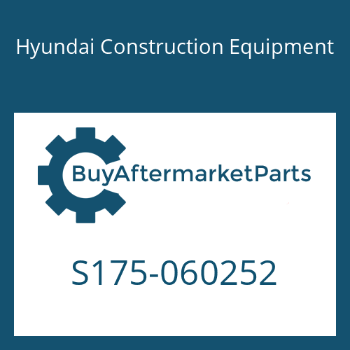 Hyundai Construction Equipment S175-060252 - BOLT-SOCKET