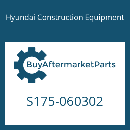 Hyundai Construction Equipment S175-060302 - BOLT-SOCKET