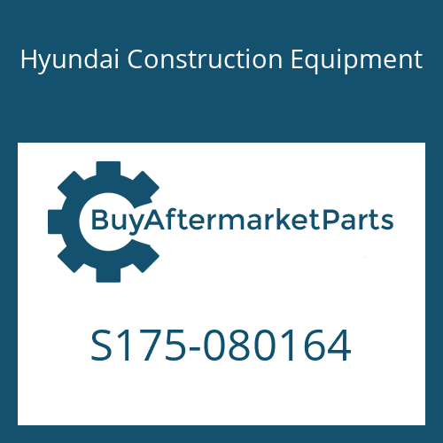 Hyundai Construction Equipment S175-080164 - BOLT-SOCKET