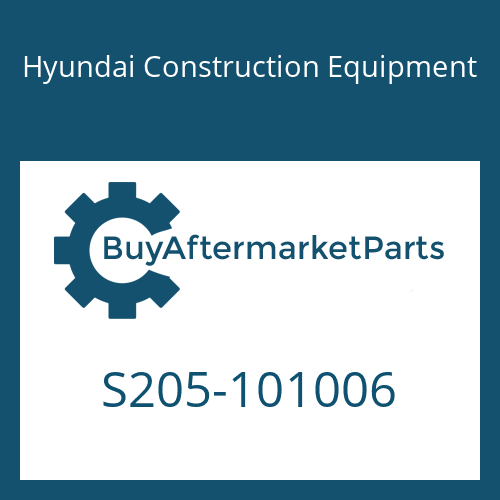 Hyundai Construction Equipment S205-101006 - NUT-HEX