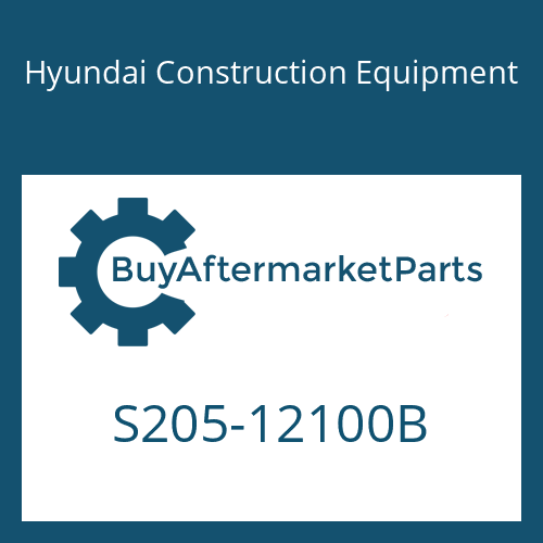 Hyundai Construction Equipment S205-12100B - NUT-HEX