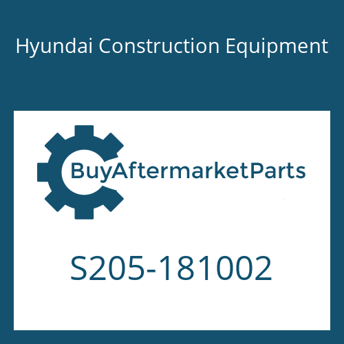 Hyundai Construction Equipment S205-181002 - NUT-HEX