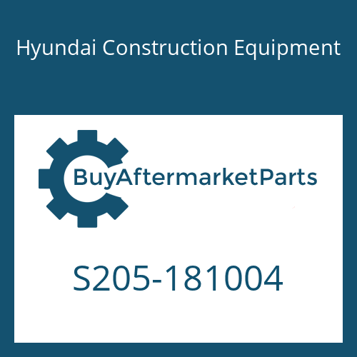 Hyundai Construction Equipment S205-181004 - NUT-HEX