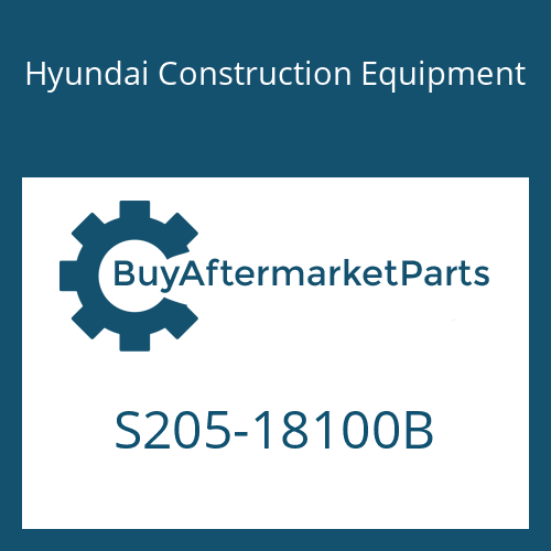 Hyundai Construction Equipment S205-18100B - NUT-HEX