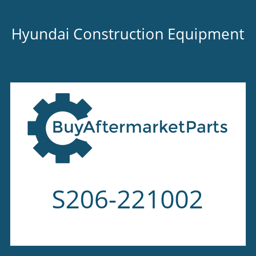 Hyundai Construction Equipment S206-221002 - NUT-HEX