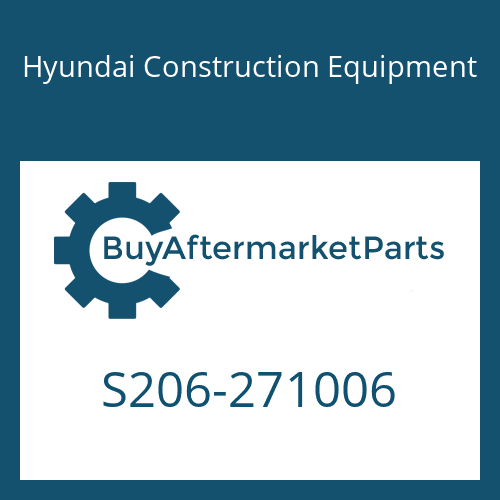 Hyundai Construction Equipment S206-271006 - NUT-HEX