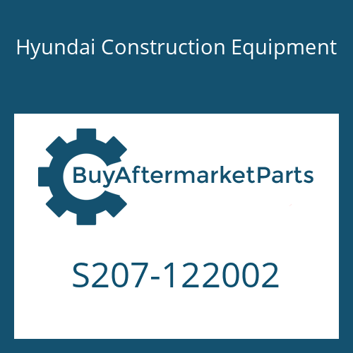 Hyundai Construction Equipment S207-122002 - NUT-HEX