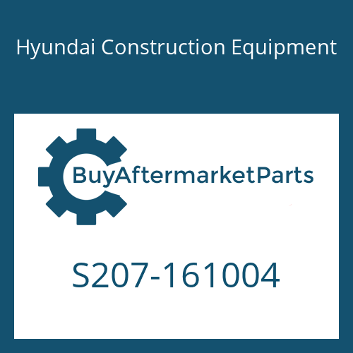 Hyundai Construction Equipment S207-161004 - NUT-HEX