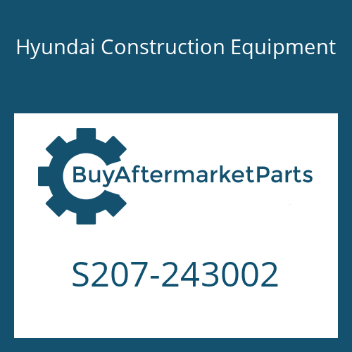 Hyundai Construction Equipment S207-243002 - NUT-HEX