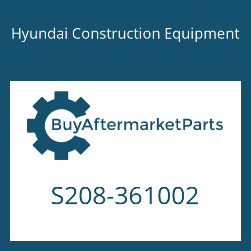 Hyundai Construction Equipment S208-361002 - NUT-HEX
