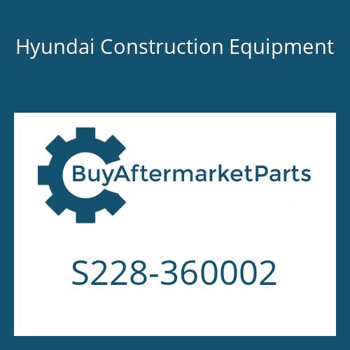 Hyundai Construction Equipment S228-360002 - NUT-SLOT