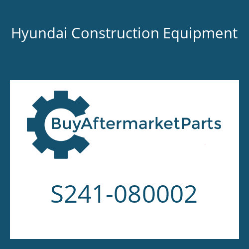 Hyundai Construction Equipment S241-080002 - NUT-HEX HD