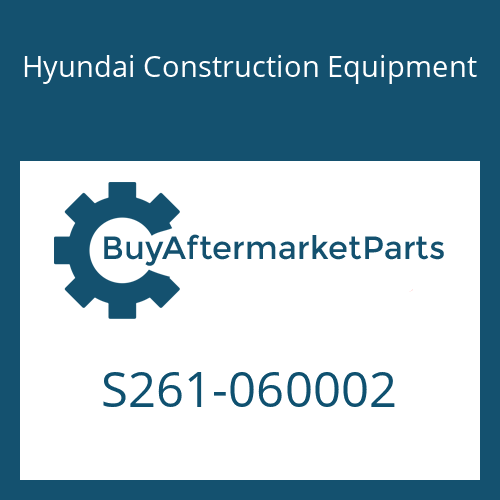 Hyundai Construction Equipment S261-060002 - NUT-WING