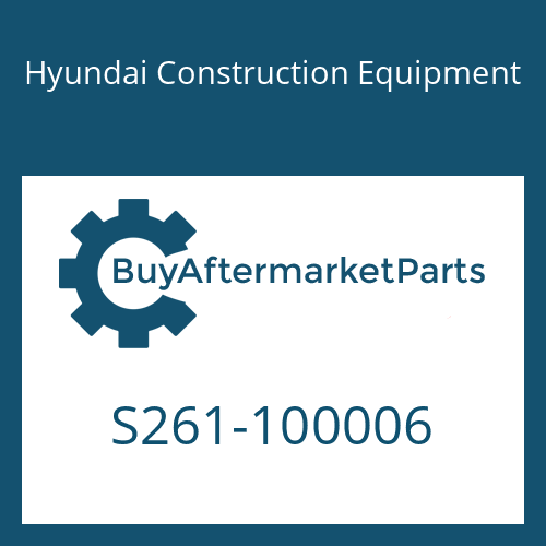 Hyundai Construction Equipment S261-100006 - NUT-WING