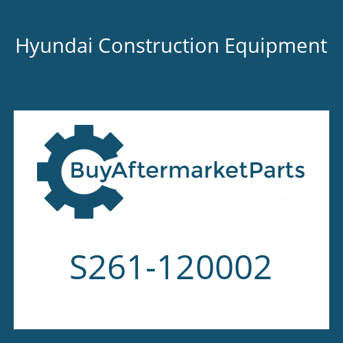 Hyundai Construction Equipment S261-120002 - NUT-WING