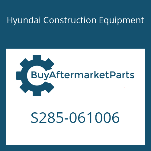 Hyundai Construction Equipment S285-061006 - NUT-FLANGE