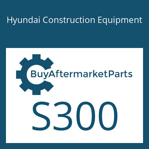 Hyundai Construction Equipment S300 - KEY-PLAIN WOODYUFF