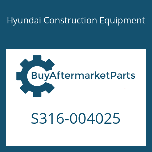 Hyundai Construction Equipment S316-004025 - BOSS-TAPPED