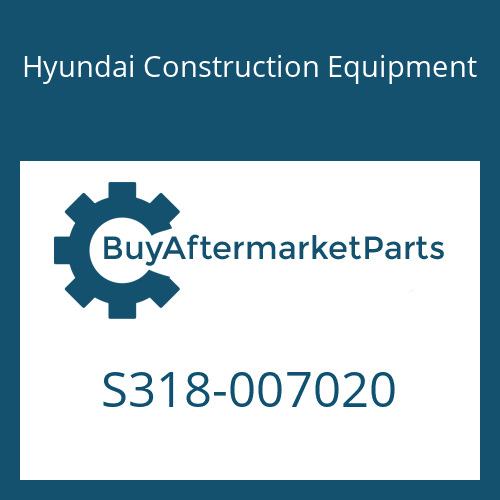 Hyundai Construction Equipment S318-007020 - BOSS-TAPPED