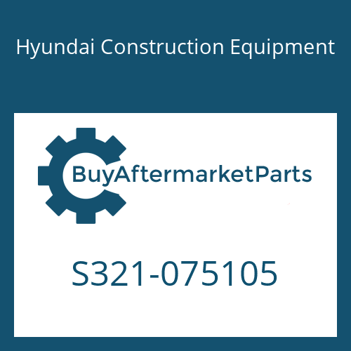 Hyundai Construction Equipment S321-075105 - STOPPER-PIN