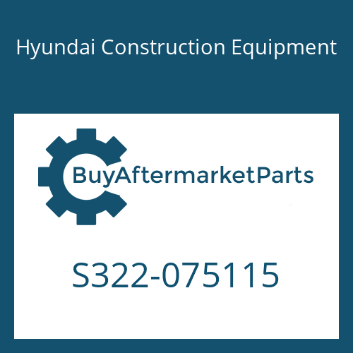 Hyundai Construction Equipment S322-075115 - STOPPER-PIN