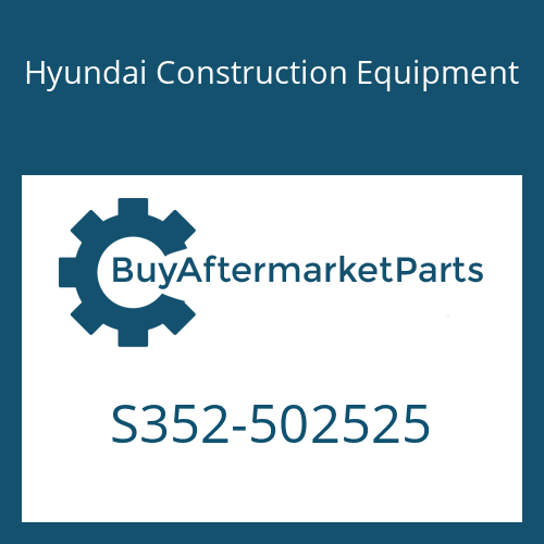 Hyundai Construction Equipment S352-502525 - PLATE-TAPPED,1 HOLE